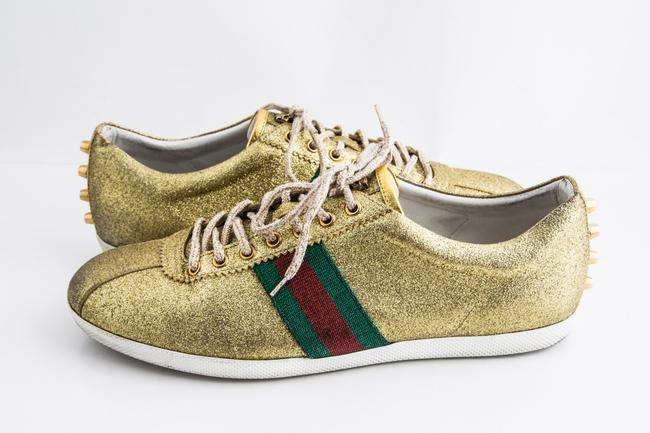 Item - Gold Glitter Bambi Web Sneakers Shoes