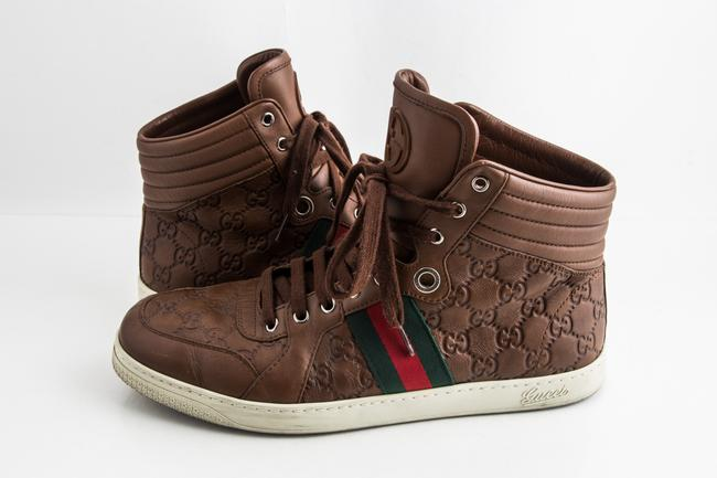 Item - Brown Gg ssima Leather High-top Sneaker Shoes