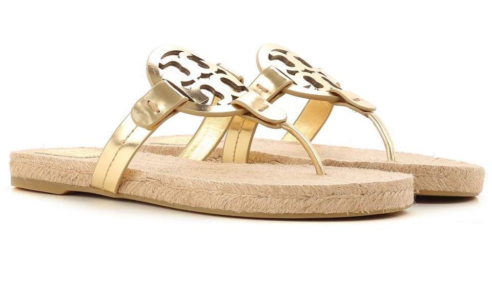 8294457e1c61 Tory Burch Gold New Women Miller Espadrille Mirror Metallic ...