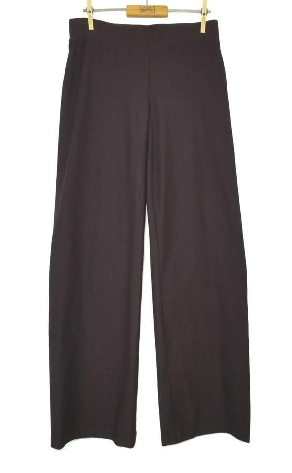 Eileen Fisher Size Small Stretch Brown Pull On Pants Straight Leg Pants Women's Clothing