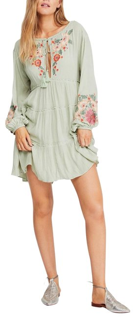 Item - Green Earth Sage New Spell On You By Short Casual Dress Size 4 (S)