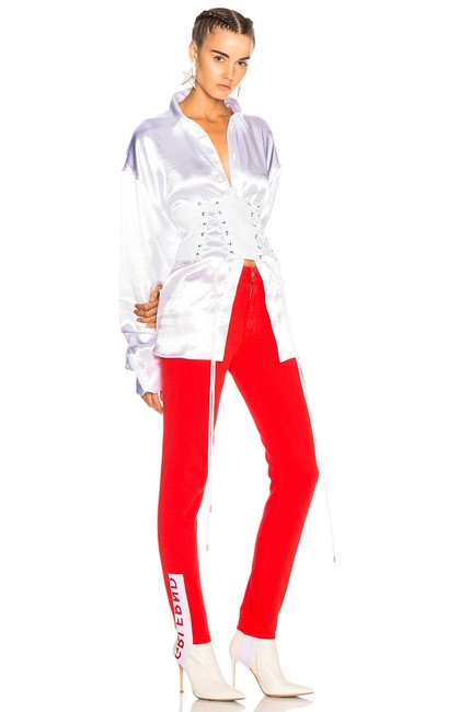 Item - Red White Medium Wash Belluci Stirrup Highwaist Stretch Skinny Jeans Size 24 (0, XS)