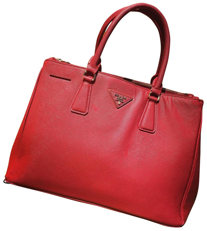6495fc6df8b6 Prada Galleria Medium Saffiano Red Leather Shoulder Bag - Tradesy