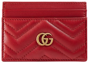 b135fe02dc93 Gucci New Gucci GG Marmont Card Case Holder Red