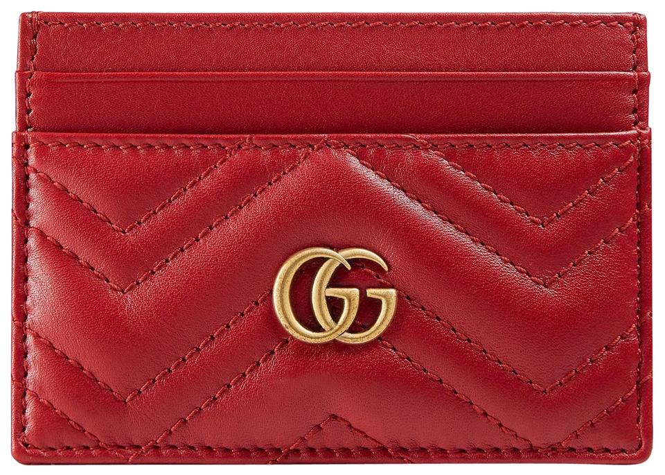 7bf90904f9b Gucci New Gucci GG Marmont Card Case Holder Red Image 0 ...