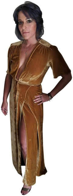 Item - Gold Miller Long Formal Dress Size 4 (S)