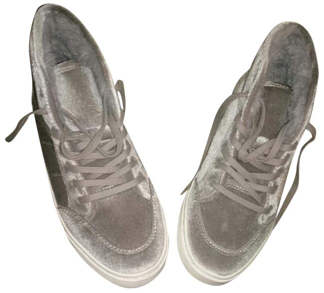 Item - Grey Velvet Sneakers Size US 8 Regular (M, B)
