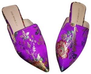 Shoe Republic LA Purple Passion Mules