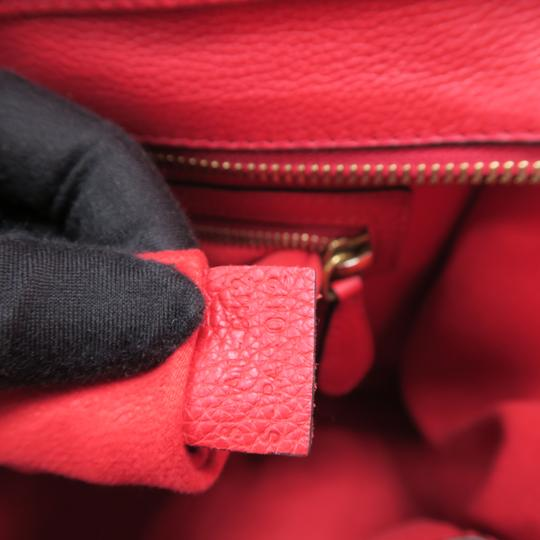 Céline Micro Luggage Calfskin Tote in Red Image 10