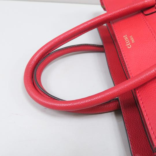 Céline Micro Luggage Calfskin Tote in Red Image 5