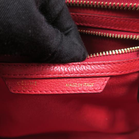 Céline Micro Luggage Calfskin Tote in Red Image 9