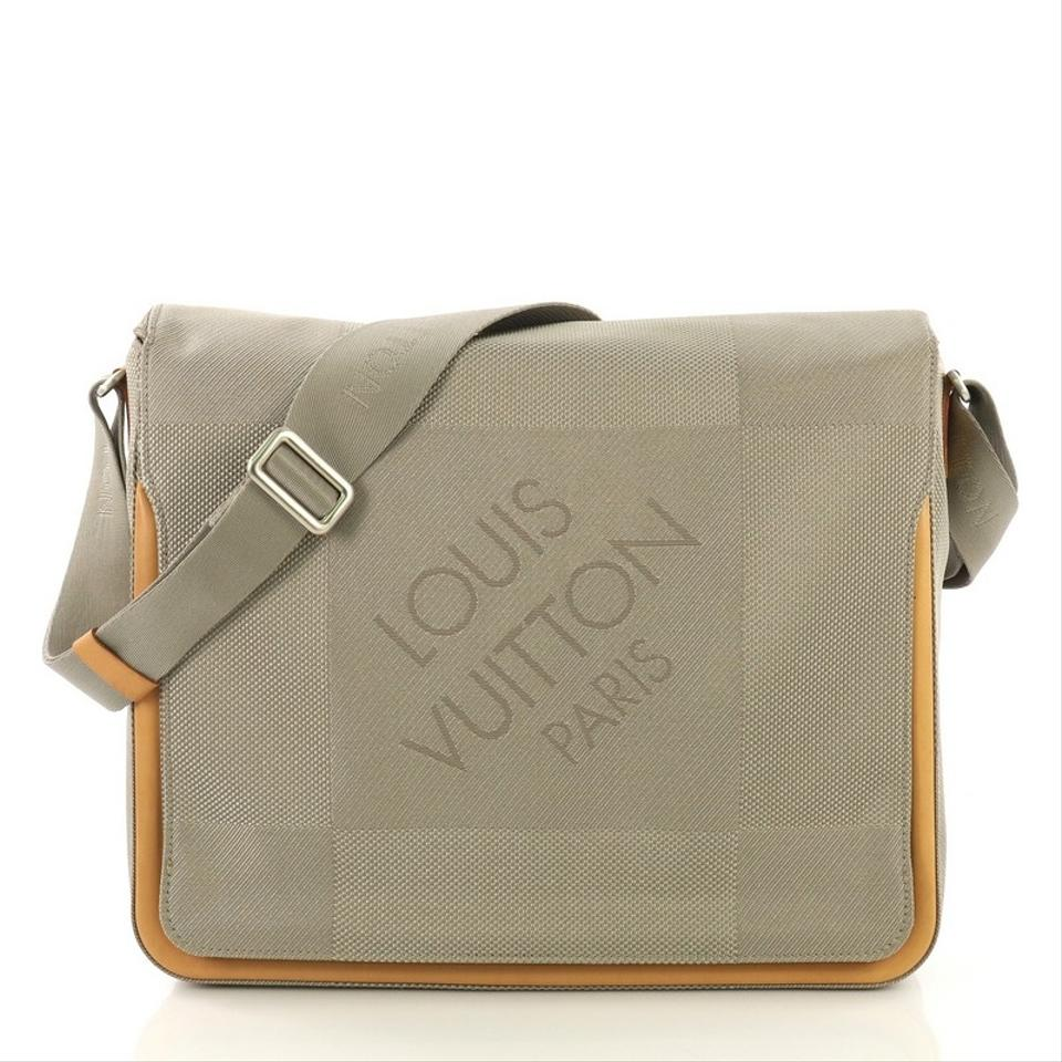 bf1d9244be11 Louis Vuitton Geant Terre Messenger Limited Edition Gray Canvas ...
