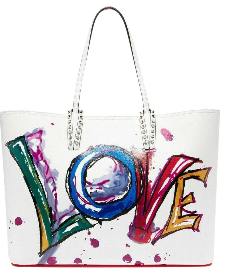 a79c3ac4fbd6 Christian Louboutin Top Handle Graffiti Cabata Tote in White Image 0 ...