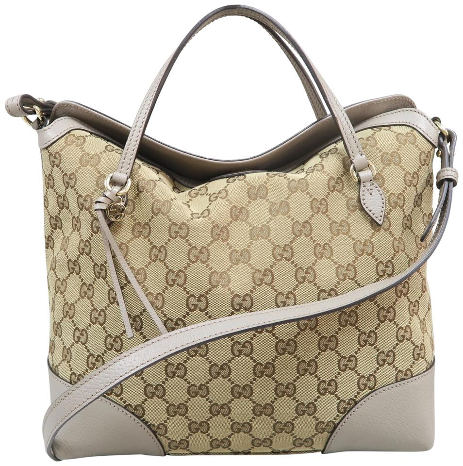 19b6ea35c07 Gucci Guccissima Canvas Pebbled Leather Satchel in Grey Image 0 ...