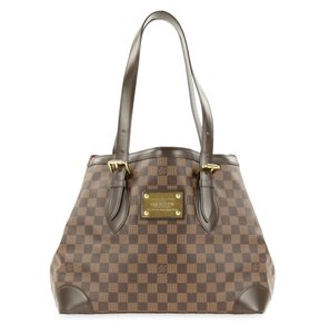 Louis Vuitton Lv Hampstead Mm Ebene Canvas Shoulder Bag