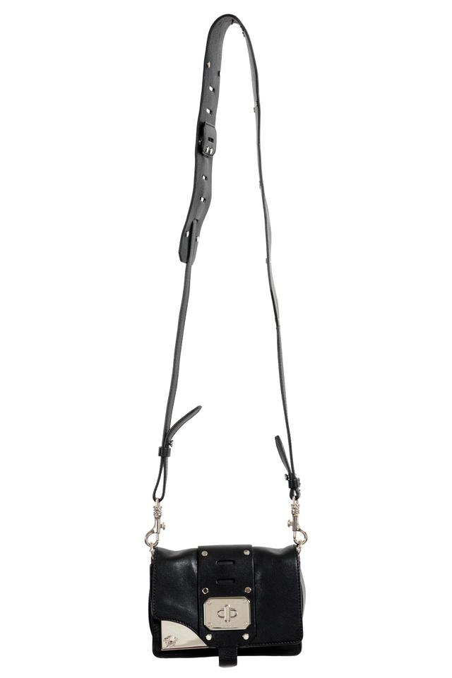 f593ea3747 Versace Crossbody Women's Black Leather Shoulder Bag - Tradesy