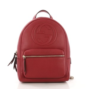 fad5ea8c6d0aa Red Gucci Backpacks - Up to 90% off at Tradesy