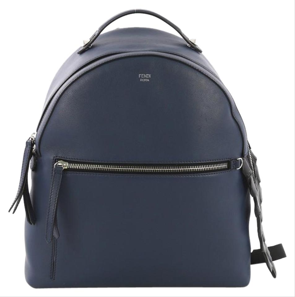 43695d0d9dbe Fendi By with Crocodile Medium Blue Leather Backpack - Tradesy