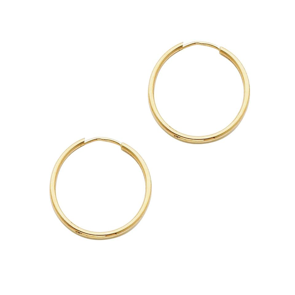 deff433984d7b Yellow 14k Polished Endless Small Hoop 1.5mm X 0.8 Inc Earrings 45% off  retail