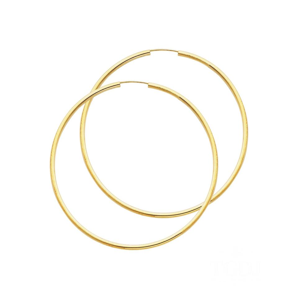 Yellow 14k Polished Endless Extra Large Hoop 2mm X 2 6 Earrings 52 Off Retail