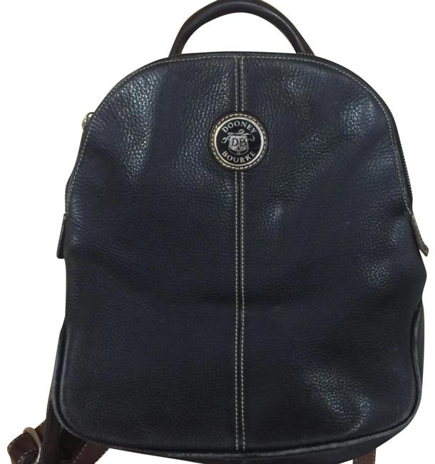 Item - Two Tone Black Brown Leather Backpack