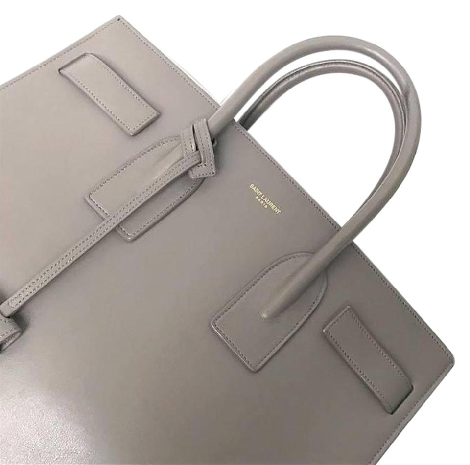 Body Tote De Leather Laurent Smooth Small Grey Saint Jour Sac Cross nwP0Ok