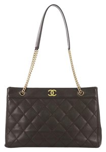 Chanel Vintage Leather Tote in brown