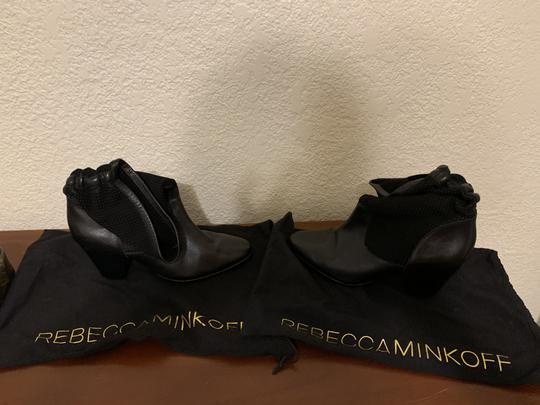 Rebecca Minkoff Leatherboots Rebeccaminkoffboots Black Boots Image 3