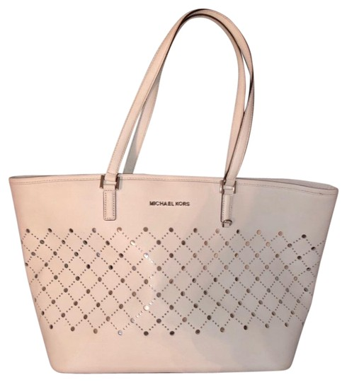MICHAEL Michael Kors Tote in White with silver Image 0
