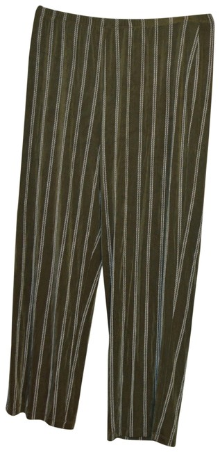 Item - Green Green/White Travelers Style Slinky and Pinstripe Pants Size 14 (L, 34)