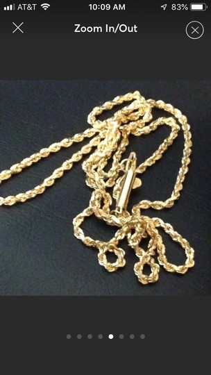 Italy 18k gold necklace Image 4