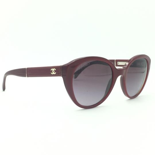 Chanel Red Cat Eye Sunglasses 5252 1426/S1 Image 2