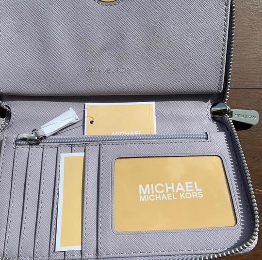 MICHAEL Michael Kors Spring Leather Silver Hardware Satchel in Lilac Image 3