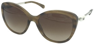 Chanel Butterfly Taupe Brown Pearl Sunglasses 5338 1101/S5