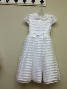 Tip Top Kids White First Communion Dress 5604 Size 8