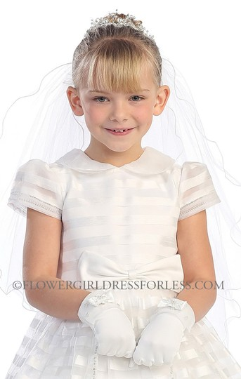 Tip Top Kids White First Communion Dress 5604 Size 8 Image 4