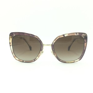 Chanel Brown & Gold Butterfly Polarized Sunglasses 4208 463/S9