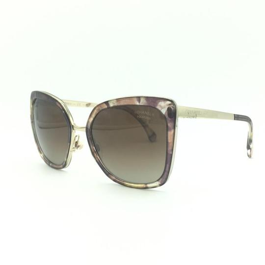 Chanel Brown & Gold Butterfly Polarized Sunglasses 4208 463/S9 Image 1