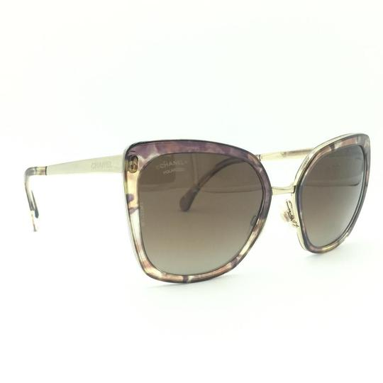 Chanel Brown & Gold Butterfly Polarized Sunglasses 4208 463/S9 Image 2