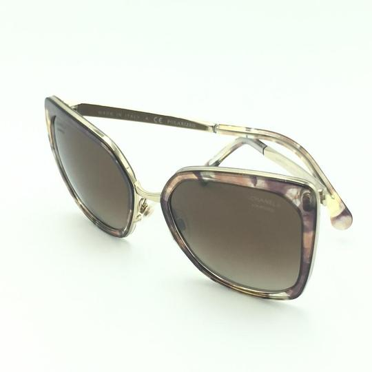 Chanel Brown & Gold Butterfly Polarized Sunglasses 4208 463/S9 Image 6