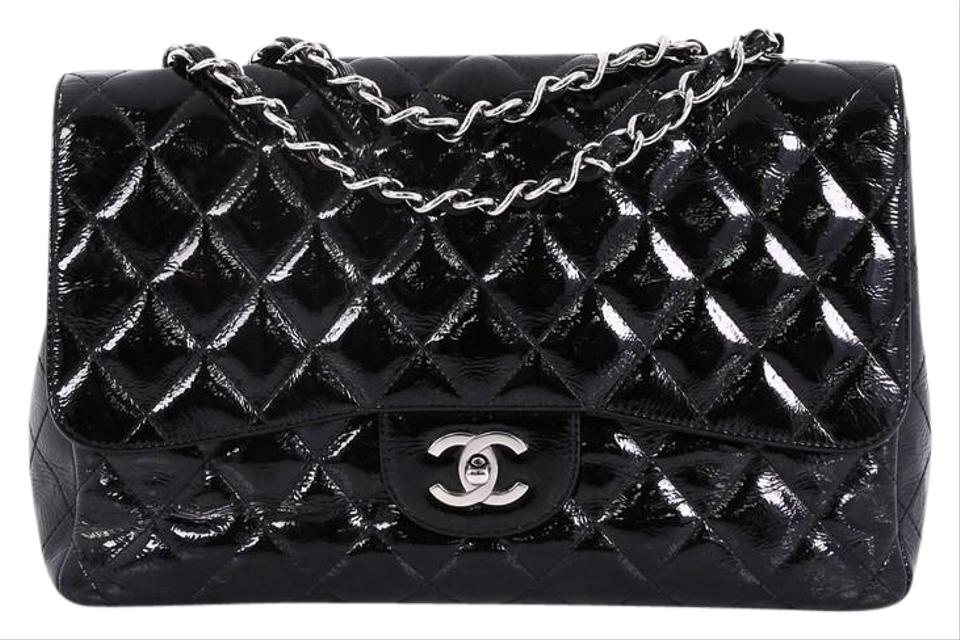 b9df4fe16ebe Chanel Classic Flap Vintage Classic Single Quilted Glitter Patent ...