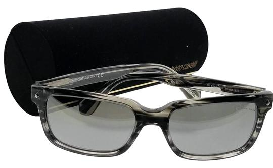Roberto Cavalli RC834S-20B-56 Rectangle Men's Black Frame Grey Lens Sunglasses Image 0