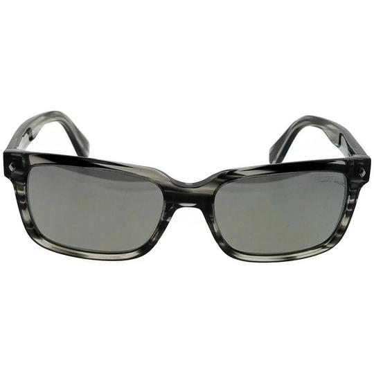 Roberto Cavalli RC834S-20B-56 Rectangle Men's Black Frame Grey Lens Sunglasses Image 2