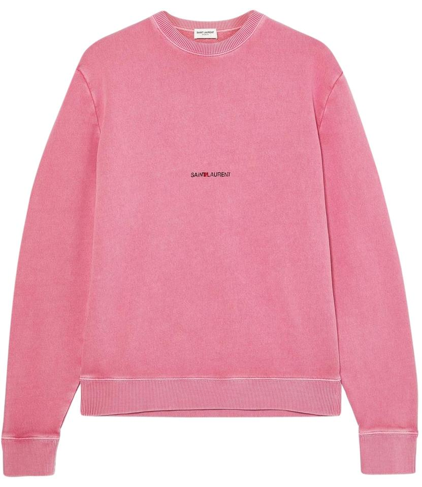 Saint Laurent Printed Cotton-terry Sweater Sweatshirt/Hoodie Size 16 (XL,  Plus 0x)