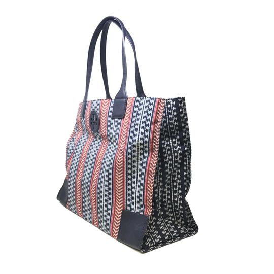 Tory Burch Tote in Navy Blue Multi color Image 1