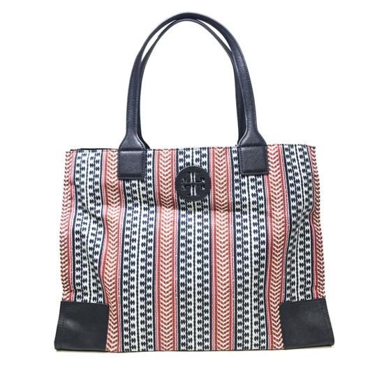 Tory Burch Tote in Navy Blue Multi color Image 2