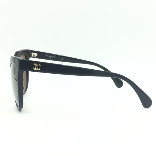 Chanel Cat Eye Black Bronze Mirrored Sunglasses 71186A S5168 Image 4