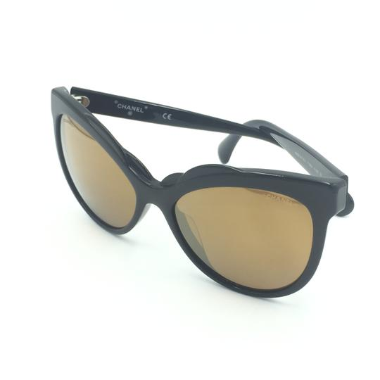Chanel Cat Eye Black Bronze Mirrored Sunglasses 71186A S5168 Image 7