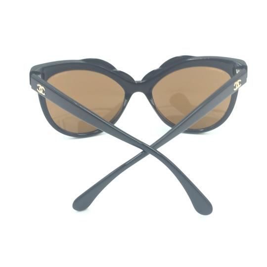 Chanel Cat Eye Black Bronze Mirrored Sunglasses 71186A S5168 Image 9
