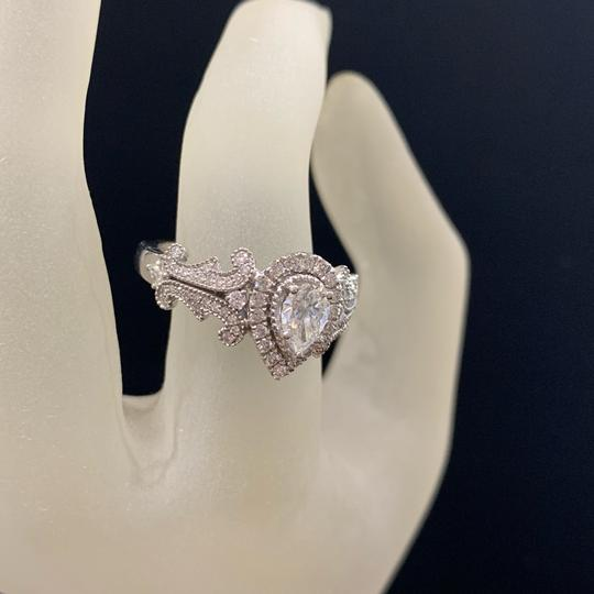 Vera Wang White Gold W Love Collection 1 Ct. T.w. Pear-shaped Diamond Frame In 14k Engagement Ring Image 2